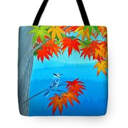 Bluejay In The Fall Tote Bag