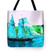 Bluenose Schooner In Halifax Tote Bag