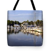 Bluer Than Blue    Painted Tote Bag