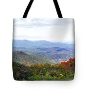 Blueridge Parkway View 2 At Mm 404  Tote Bag