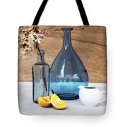 Blues And Oranges Tote Bag
