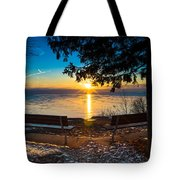 Bluff  Benches Tote Bag