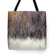 Blurred Brown Winter Woodland Background Tote Bag