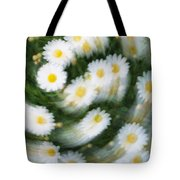 Blurred Daisies Tote Bag