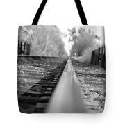 Blurred Track Tote Bag