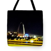 Blurry Waterfront 3 Tote Bag