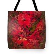 Blushing Red Flowers  Tote Bag