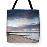 Blyth Harbour At Sunset Tote Bag