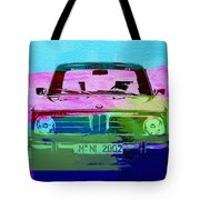 Bmw 2002 Front Watercolor 1 Tote Bag by Naxart Studio