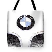 Bmw Z3 Emblem Sketch Tote Bag