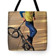 Bmx Flatland Ride - Wonderful Warm Light Tote Bag