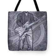 Bo Diddley - Have Guitar Will Travel Tote Bag by Sean Connolly
