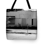 Boarded Up - Black And White Tote Bag