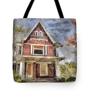 Boarded Up Old Characer Home Watercolor Tote Bag