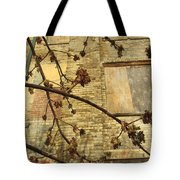 Boarded Windows And Branches Tote Bag