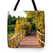 Boardwalk In A Forest, Magee Marsh Tote Bag