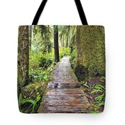 Boardwalk On The Rainforest Trail In Tote Bag