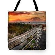 Boardwalk Sunrise Amelia Island Florida Tote Bag