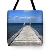 Boardwalk To The Ocean Tote Bag
