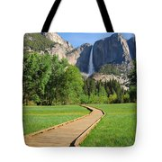 Boardwalk To Yosemite Falls  Tote Bag
