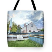 Boat And Oars Tote Bag by Eric Gendron