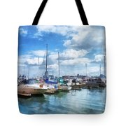 Boat - Boat Basin Fells Point Tote Bag