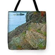 Boat By East Quoddy Bay On Campobello Island-nb Tote Bag