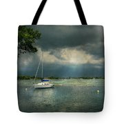 Boat - Canandaigua Ny - Tranquility Before The Storm Tote Bag