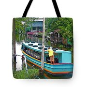 Boat For Transportation On Canals In Bangkok-thailand Tote Bag