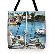 Boat - King's Wharf Bermuda Tote Bag