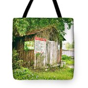 Boat Launch Outhouse - Texture Bw Tote Bag