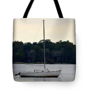 Boat On Calm Waters Tote Bag