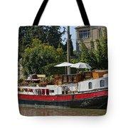 Boat On Canal Du Midi Homps France Dsc01717  Tote Bag