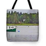 Boat On Cove In Glen Margaret-ns  Tote Bag