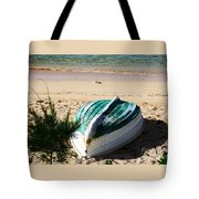 Boat On Devonshire Bay Beach Tote Bag