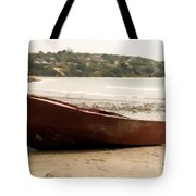 Boat On Shore 02 Tote Bag by Pixel Chimp