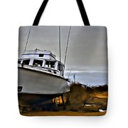 Boat Out Of Water Tote Bag