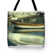 Boat Pier Tote Bag