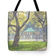 Boat Pond, Central Park Oil On Canvas Tote Bag