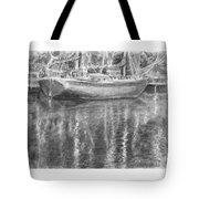 Boat Reflection Tote Bag
