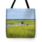 Boat Ride In The Marsh Tote Bag