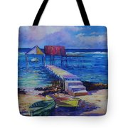 Boat Shed And Boats Tote Bag by John Clark