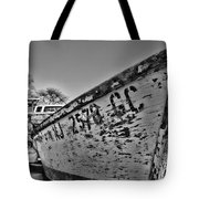 Boat - State Of Decay In Black And White Tote Bag