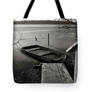 Boat In Ice - Lake Wingra - Madison - Wi Tote Bag