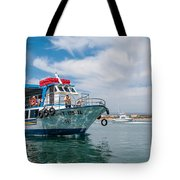 Boat To Tavira Island Tote Bag
