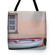 Boat Under A Window Tote Bag