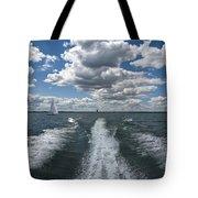 Boat Wake 01 Tote Bag