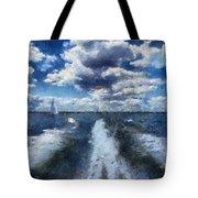 Boat Wake Photo Art 02 Tote Bag