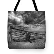 Boat Wreckage Bw Tote Bag