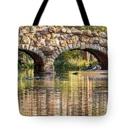 Boaters Under The Bridge Tote Bag